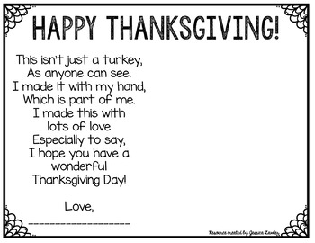 FREE Thanksgiving Handprint Craft