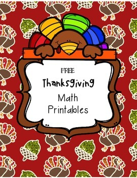 FREE Thanksgiving Math Printables