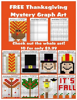 FREE Thanksgiving Mystery Graph Art