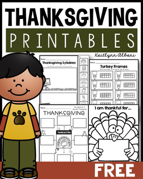 FREE - Thanksgiving Printables