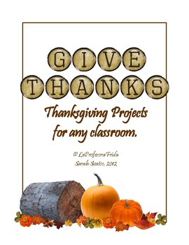 FREE! Thanksgiving Projects for the whole month!  (English or Foreign Language)
