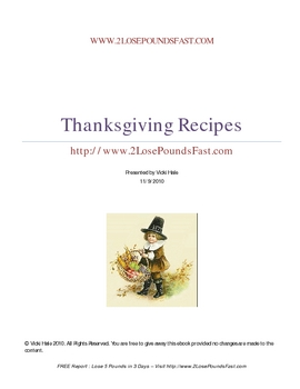 FREE Thanksgiving Recipes booklet