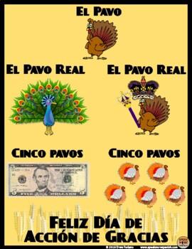 FREE Thanksgiving Spanish Printables. Feliz Día de Acción de Gracias en Español.
