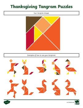 FREE Thanksgiving Tangram Puzzles