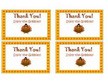 FREE Thanksgiving Treat Tag