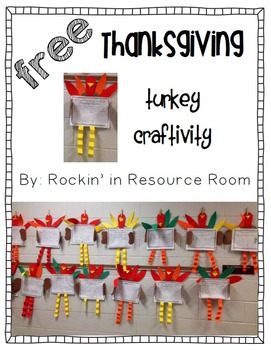 FREE Thanksgiving Turkey Writing Craftivity