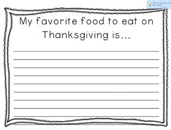 FREE Thanksgiving Turkey Writing Craftivity