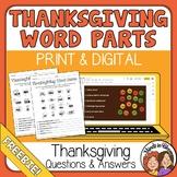 Thanksgiving Word Activity Print or Google Slides FREE