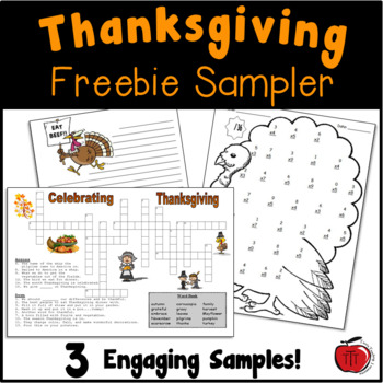 FREE Thanksgiving Worksheets by TchrBrowne | Teachers Pay Teachers