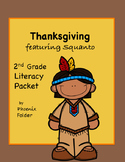 FREE - Thanksgiving featuring Squanto, 2nd Grade Literacy Packet