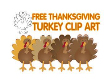 FREE Thanksgiving turkey clip art