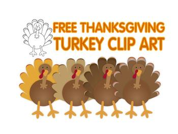 FREE Thanksgiving turkey clip art by Lita Lita | Teachers Pay Teachers