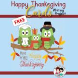 FREE Thanksgiving Writing Activity Gratitude Cards