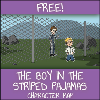 FREE The Boy in the Striped Pajamas Character Map Worksheet