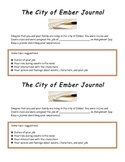 FREE The City of Ember Journal Activity