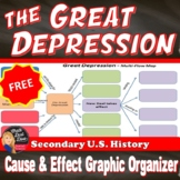 FREE! The Great Depression Multi-Flow Map (U.S. History)