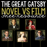 FREE: The Great Gatsby Novel vs. Film Analysis Using Manila Folders