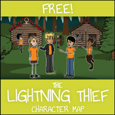 FREE The Lightning Thief Character Map Worksheet