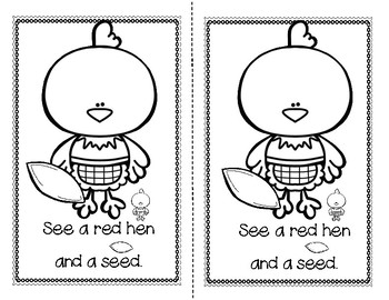 FREE...The Little Red Hen Emergent Reader + Rhyming Activity