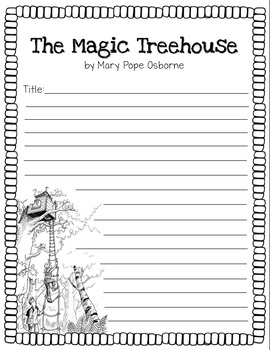 The Magic Treehouse Book Reports- 3 Versions