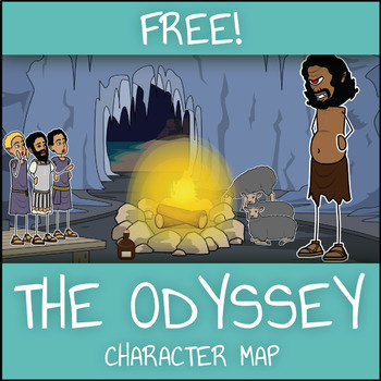 FREE The Odyssey Character Map Worksheet