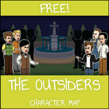 FREE The Outsiders Character Map Worksheet