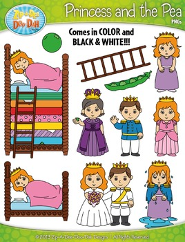 FREE The Princess and the Pea Clipart {Zip-A-Dee-Doo-Dah Designs}