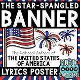 "FREE! The Star-Spangled Banner"" Lyrics Poster {Color/BW}"