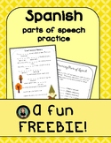 FREE Spanish Silly Sentences, Practicing Parts of Speech