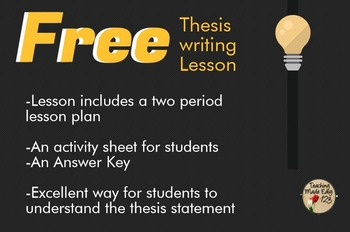 FREE Thesis Writing Activity
