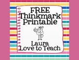 FREE Thinkmarks Printable