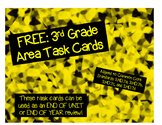 FREE: Third Grade Area Task Cards