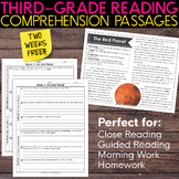 FREE Third Grade Weekly Reading Comprehension [Nonfiction and Fiction]