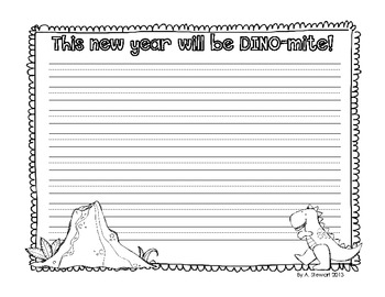 {FREE} This Year Will Be Dino-Mite Dinosaur-Themed Response Sheet