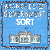 FREE: Three Branches of Government Cut and Paste Sort