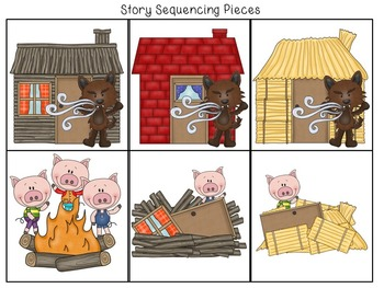 picture relating to Story Sequencing Cards Printable called Absolutely free 3 Minimal Pigs Retelling and Tale Sequencing Playing cards
