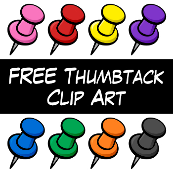 free thumbtack clip art by digital classroom clipart tpt rh teacherspayteachers com thumbtack clip art no background thumbtack clipart black and white