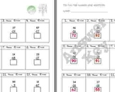 FREE Tic-Tac-Toe Number Line Worksheet A