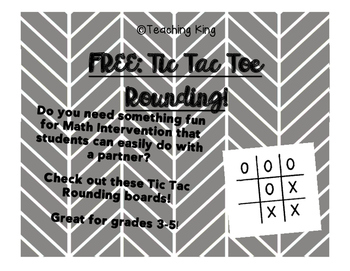FREE Tic Tac Toe Rounding Math Intervention Small Group Ca