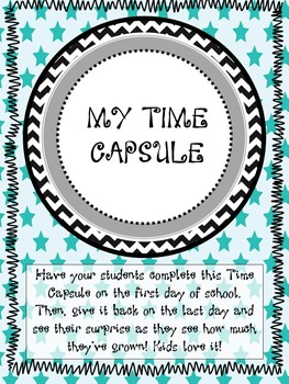 FREE Time Capsule - Great for 1st Days of School!