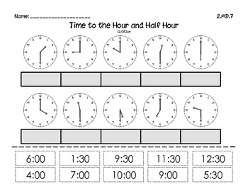 FREE Time to the hour and 1/2 hour