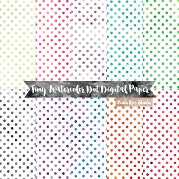 Tiny Watercolor Dot Digital Paper