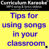 FREE! ~ 'Tips For Using Songs In Your Classroom' l Distanc
