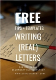 FREE - Tips + Templates for Writing (Real) Letters (Distan