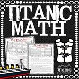 *FREE* Titanic Math | Distance Learning