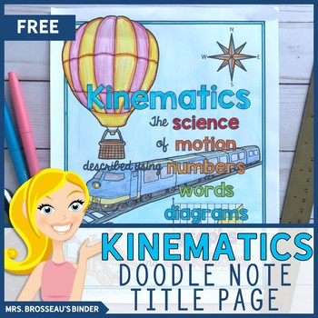 FREE Title Page | Kinematics Doodle Notes Bundle for Physics