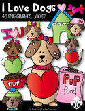Dogs & Hearts Clipart