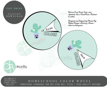 FREE Toddler Color Wheel
