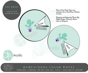 Cute Toddler Color Wheel
