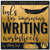 FREE Tools for Improving Writing WORKSHEETS